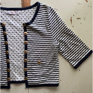 Anthro Pilcro Along the Warf cropped open cardigan